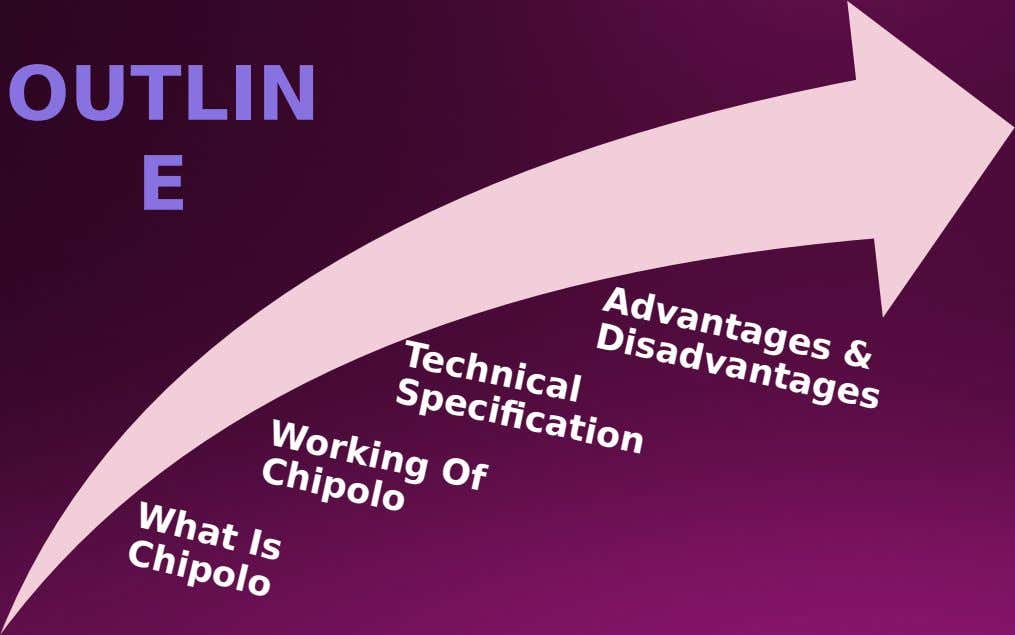 OUTLIN E Advantages & Disadvantages Technical Specifcation Working Of Chipolo What Is Chipolo