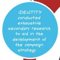 iDENTITY conducted exhaustive secondary research to aid in the development of the campaign strategy