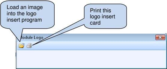 Load an image into the logo insert program Print this logo insert card