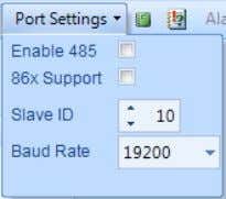 Enable 485 : Enable or Disable the RS485 port connection in the PC.