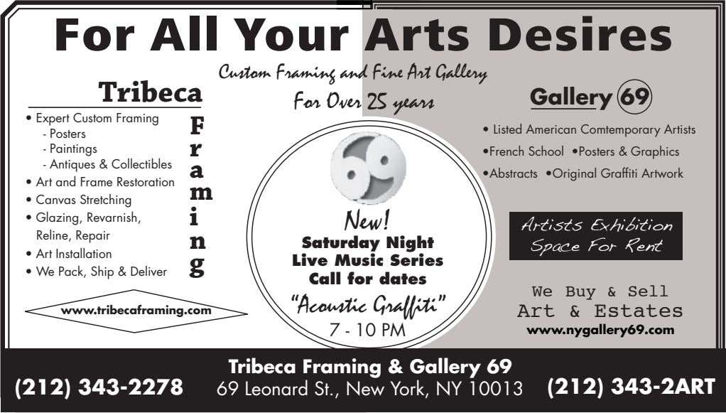 For All Your Arts Desires Custom Framing and Fine Art Gallery Tribeca For Over 25