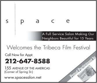 A Full Service Salon Making Our Neighbors Beautiful for 15 Years Welcomes the Tribeca Film