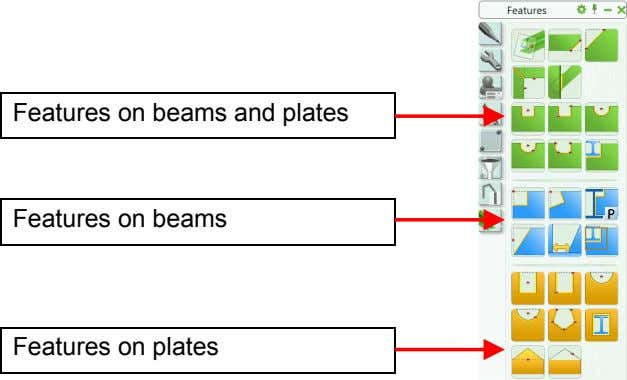 Features on beams and plates Features on beams Features on plates