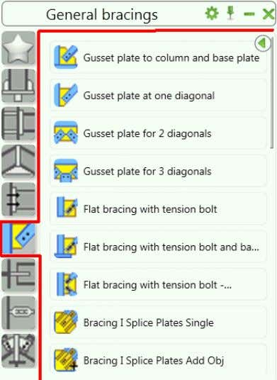 using gusset plates are grouped in the General bracing category of the Connection vault . The