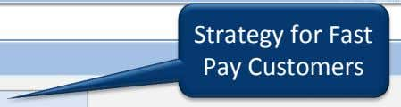 Strategy for Fast Pay Customers
