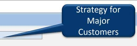 Strategy for Major Customers