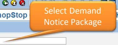 Select Demand Notice Package