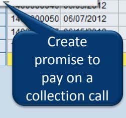 Create promise to pay on a collection call