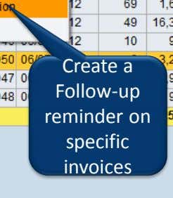 Create a Follow-up reminder on specific invoices