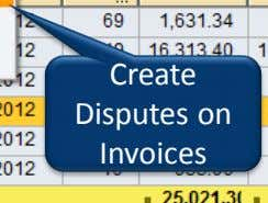 Create Disputes on Invoices