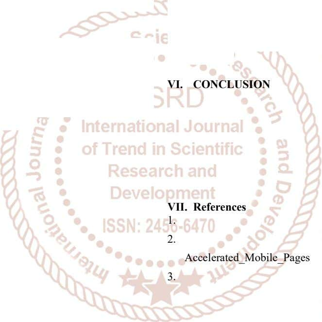 VI. CONCLUSION VII. References 1. 2. Accelerated_Mobile_Pages 3.
