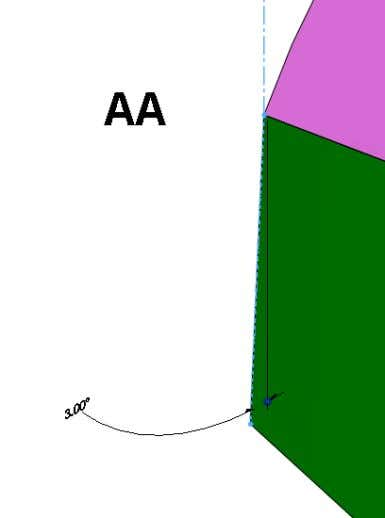 the full boundary of the imported surface (see image). -The shape of the side surface should