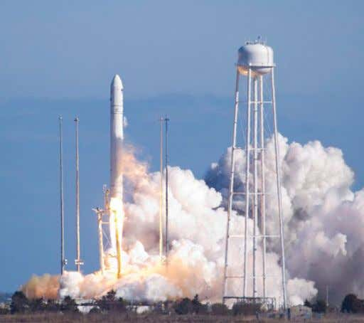 Commercial space companies SpaceX (left) and Orbital Sciences Corp. (right) currently provide cargo transportation