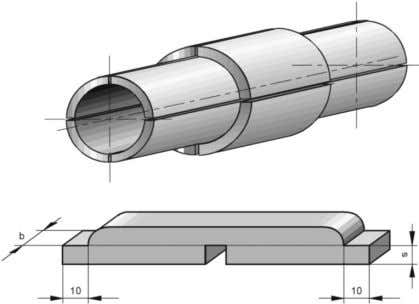 The wall thickness of the pipe should be ≥ 4 mm. Figure 9. Test sample from