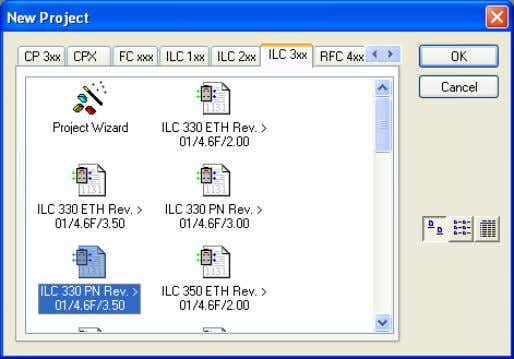 "the ""File"" menu to create a new project using "" Figure 3-14 Selecting the controller •"