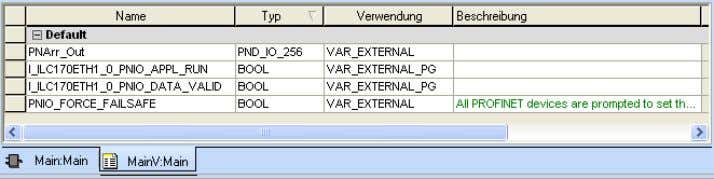 """PND_IO_256"" data type as ""VAR- EXTERNAL"". Figure 3-22 Creating the ""PNArr_Out"" variable •"