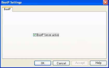 "• Activate the ""BootP server active"" checkbox. Figure 3-28 Activate BootP server • Switch to the"
