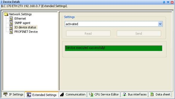 of the service will be displayed in the status window. Figure 3-34 Status window To transfer