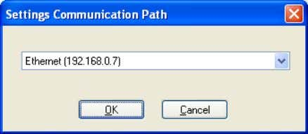 address or the one you have selected for your application. Figure 3-36 Setting the communication path