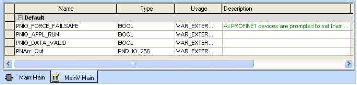 """PND_IO_256"" data type as ""VAR- EXTERNAL"". Figure 4-29 Creating the ""PNArr_Out"" variable"
