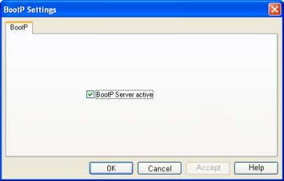 "• Activate the ""BootP server active"" checkbox. Figure 4-35 Activate BootP server • Switch to the"