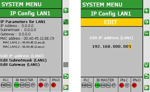be accessed in the network after a restart of the device. Figure 4-40 LAN1 configuration display