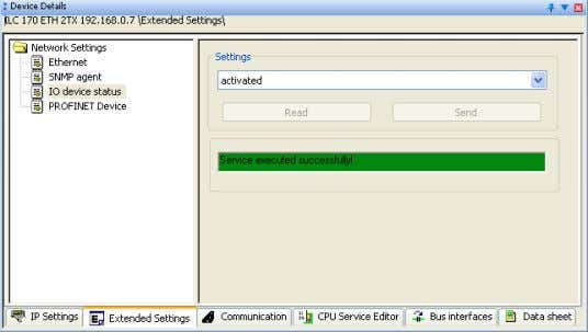 of the service will be displayed in the status window. Figure 4-43 Status window To transfer