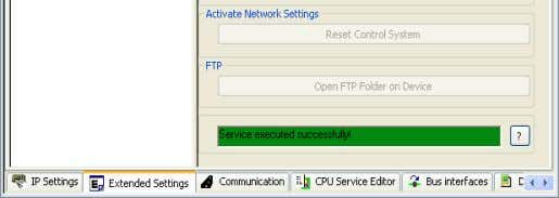 of the service will be displayed in the status window. Figure 4-46 Status window The input/output