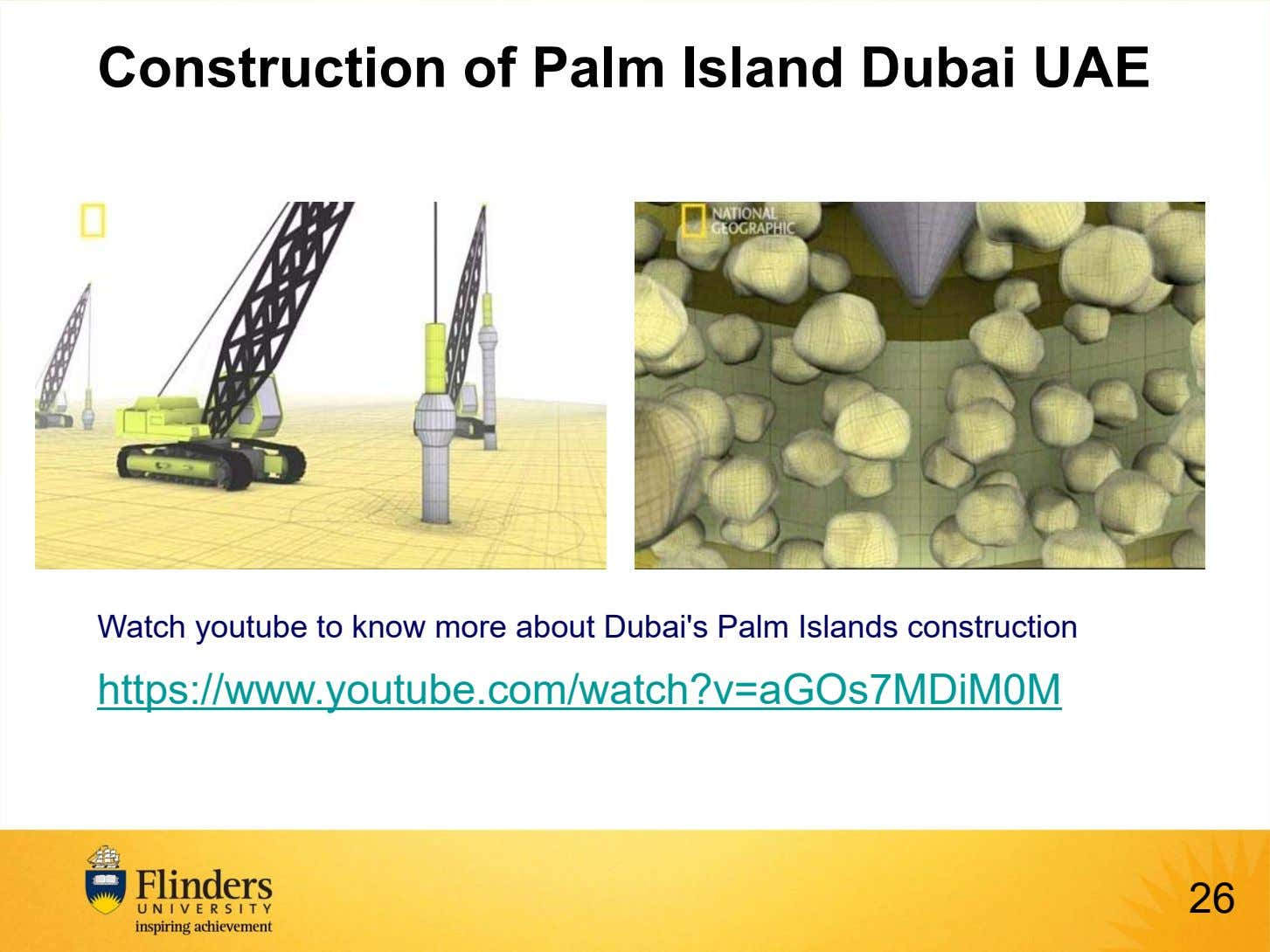 Construction of Palm Island Dubai UAE Watch youtube to know more about Dubai's Palm Islands