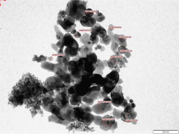NiO oxide nanoparticles. Transmission Electron Microscopy: Fig. 4.4: shows the SEM image of Pure Nickel oxide