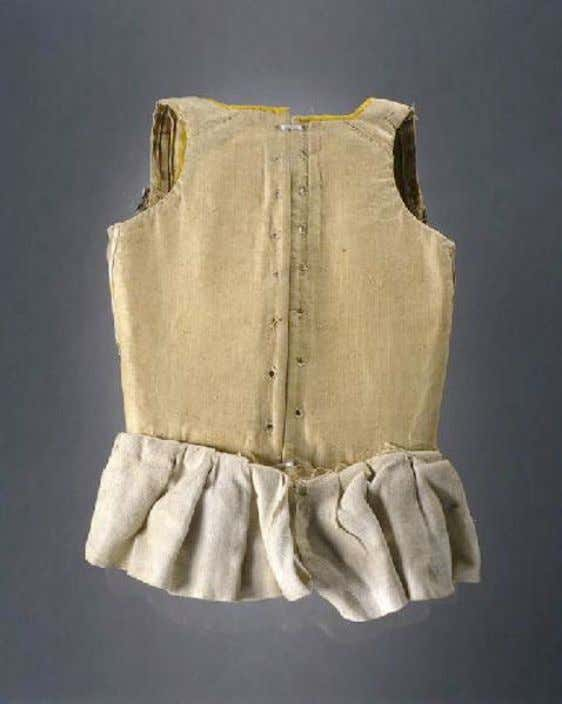 French Child's Corset (Back) c. 1750 - 1775 (Joconde Musées de France)