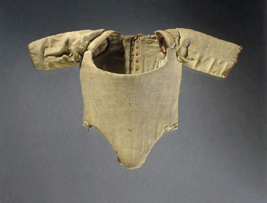 French Child's Corset with Sleeves (Front) c. 1750 - 1760 (Joconde Musées de France)
