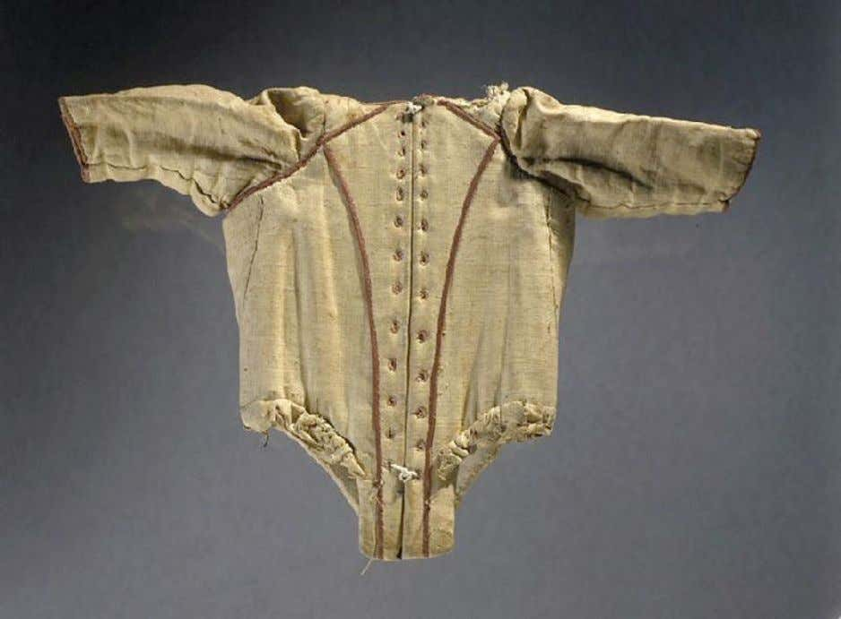 French Child's Corset with Sleeves (Back) c. 1750 - 1760 (Joconde Musées de France)