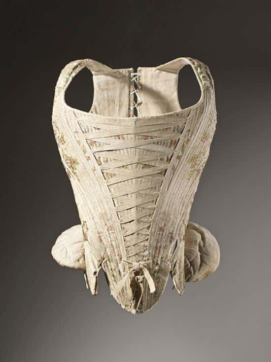 French Corset c. 1730 - 1740 (Los Angeles County Museum of Art)