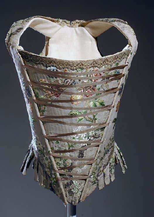 French Corset (Front) c. 1750 (Museum at Fashion Institute of Technology)