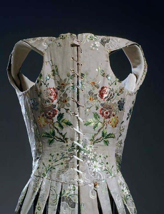 French Corset (Back) c. 1750 (Museum at Fashion Institute of Technology)