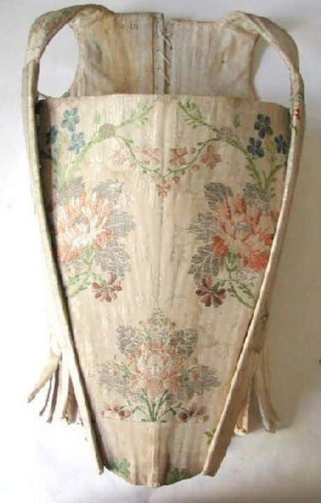 French Silk Corset (Front) c. 1750 - 1760