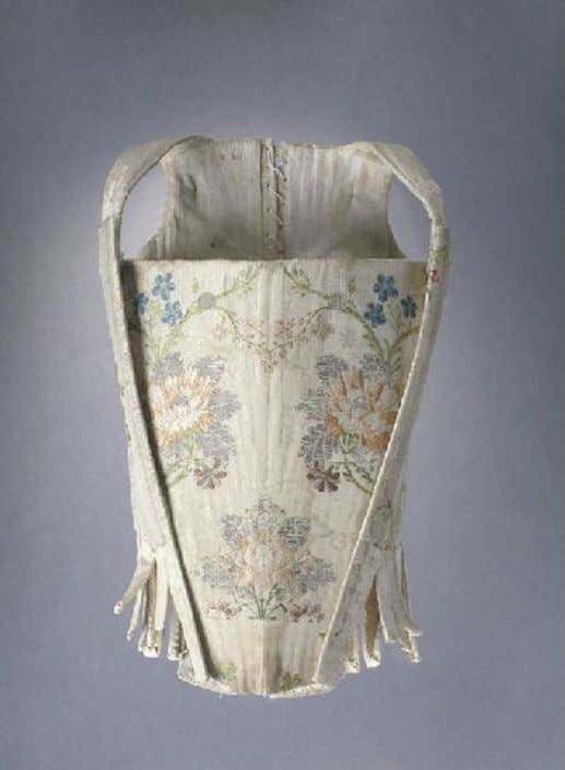 French Corset (Front) c. 1750 - 1760 (Joconde Musées de France)