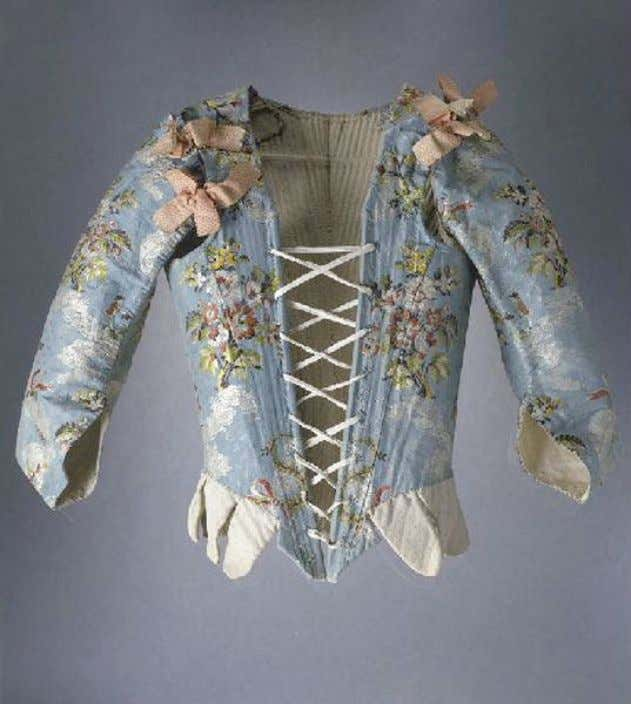 French Corset with Sleeves (Front) c. 1750 - 1760 (Joconde Musées de France)