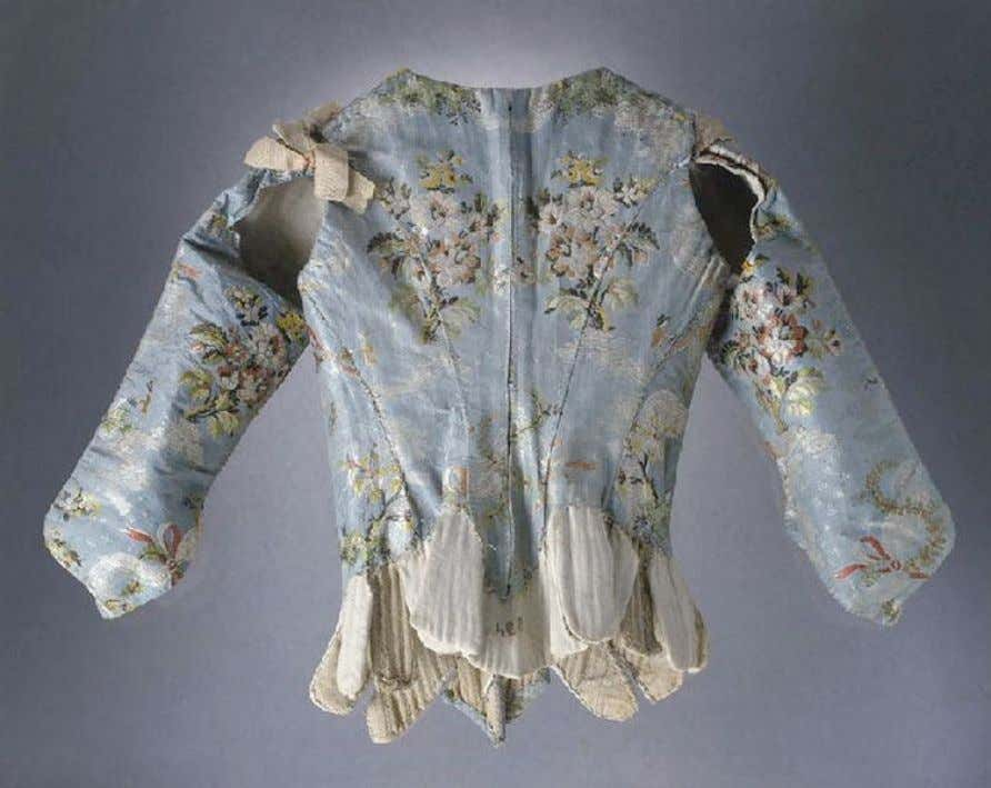 French Corset with Sleeves (Back) c. 1750 - 1760 (Joconde Musées de France)