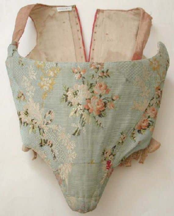 French Corset (Front) c. 1750 - 1775 (Joconde Musées de France)