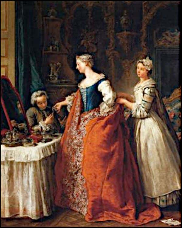 """Dame à sa toilette recevant un cavalier"" by Jean-François de Troy c. 1734 (Private Collection)"