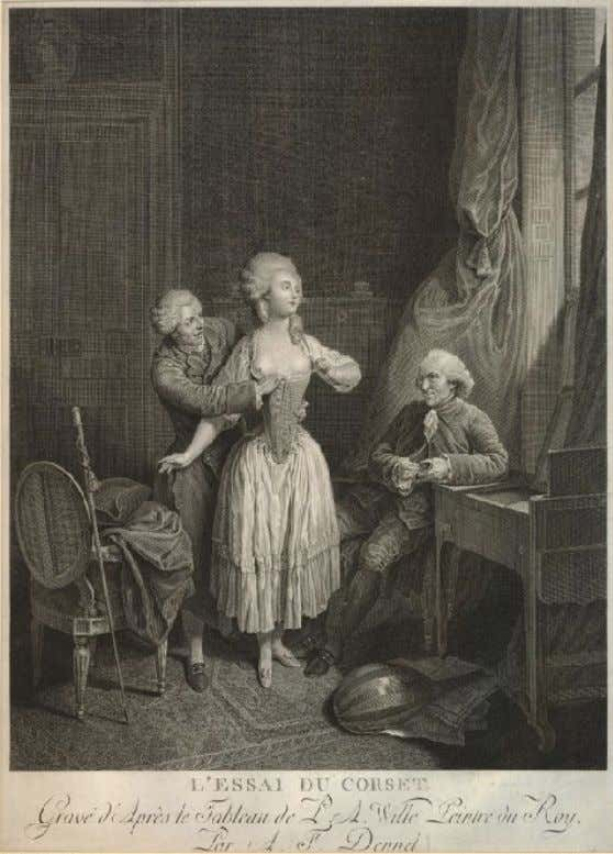 """L'ESSAI DU CORSET"" 1785 (Private Collection)"