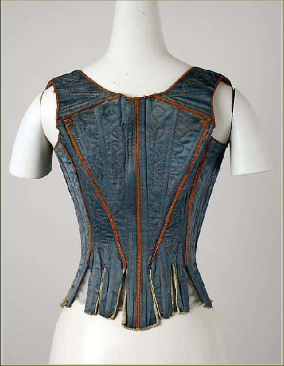 Italian Silk Stays (Back) Mid 18th Century (Metropolitan Museum of Art)
