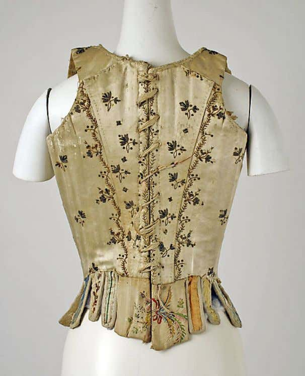 Italian Silk Stays (Back) c. 1780 (Metropolitan Museum of Art)
