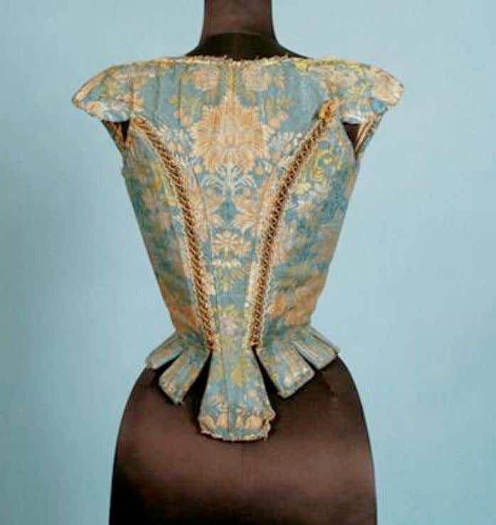French Silk Brocade Corset c. 1700 - 1720 (Karen Augusta Auctions)