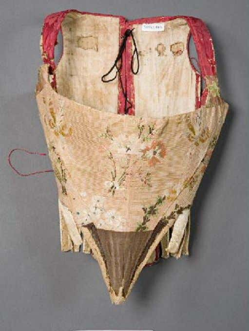 French PREGNANCY or NURSING Corset with Side Lacings (Front) c. 1750 - 1760 (Joconde Musées