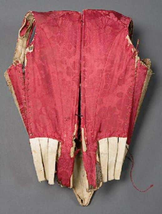 French PREGNANCY or NURSING Corset with Side Lacings (Back) c. 1750 - 1760 (Joconde Musées