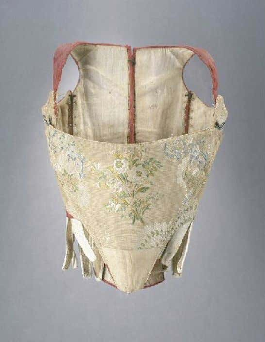 French PREGNANCY or NURSING Corset with Side Lacings (Front) c. 1750 - 1775 (Joconde Musées