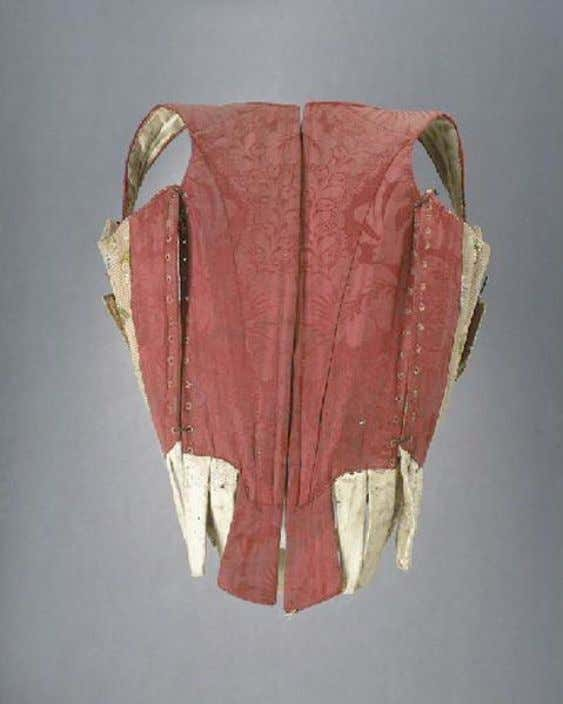 French PREGNANCY or NURSING Corset with Side Lacings (Back) c. 1750 - 1775 (Joconde Musées